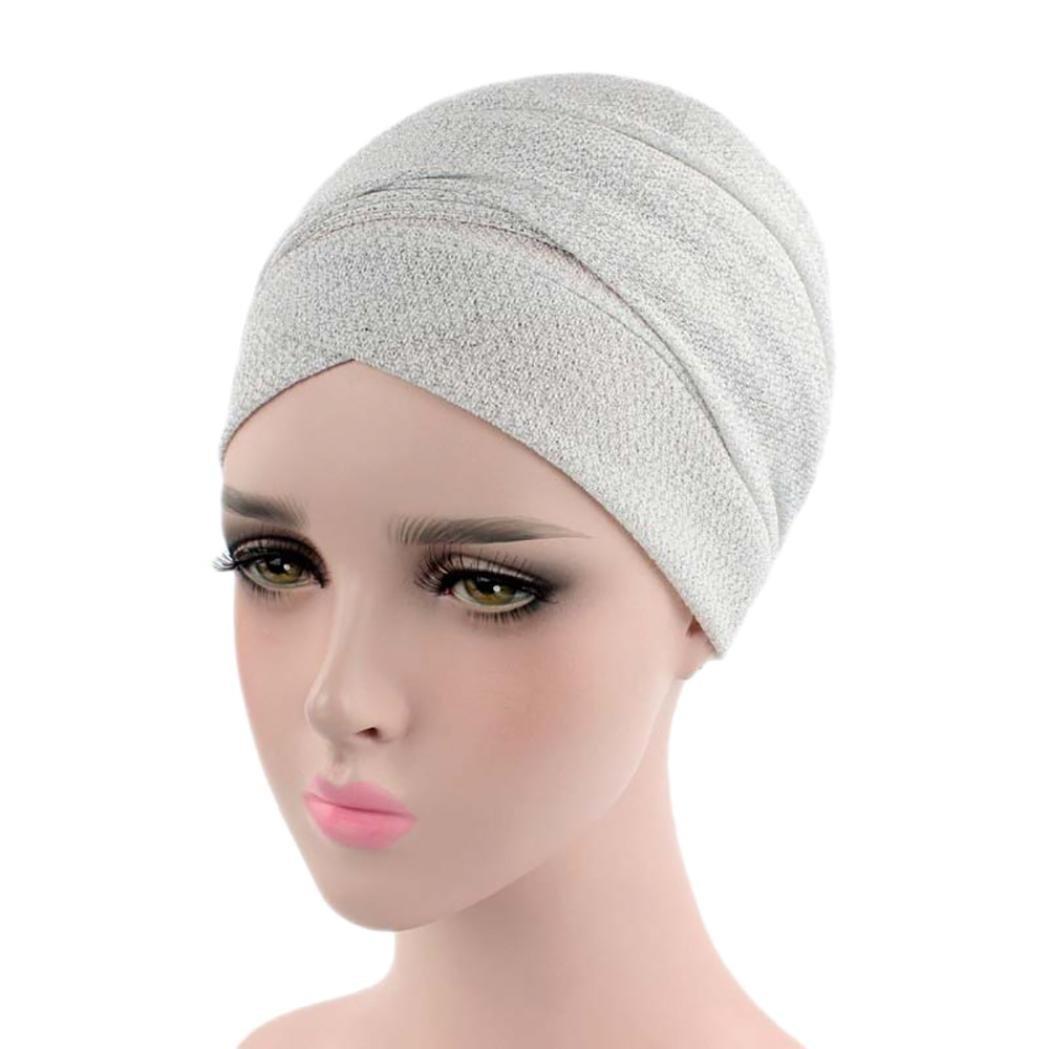 88fa50484cc8 Mamum Femme Bonnet Musulmanes Chic Coiffe Foulard Chapeaux avec pour Perte  de Cheveux, Cancer, Chimio (Orange) ...