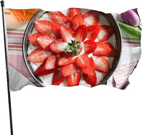 Strawberry Cheese Pudding Garden Flags House Decorations For Indoor Outdoor Durable Yard Flag 35 Ft Amazon De Garten