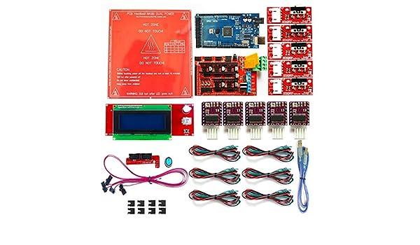 Amazon.com: Zamtac Reprap rampas 1,4 Kit con Mega 2560 r3 + ...