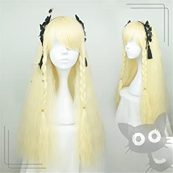 Amazon Com Suuny Queen Anime Cos Wig Yellow Hair Kinky Curly Long
