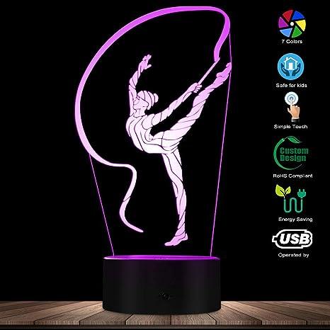 Dancing Nightlight Girls Night Lamp Ballerina Personalized LED Night Light