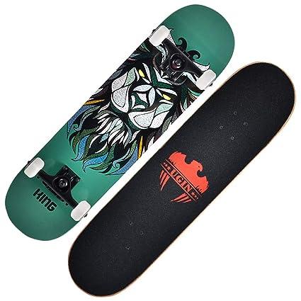 KD Skate Principiante Cuatro Ruedas Skate Cepillo Calle Carretera Niños Adultos Dobles Skate,2