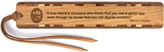 product image for Humorous Friendship Quote Engraved Wooden Bookmark with Suede Tassel - Search B071GWKCR6 for Personalized Version