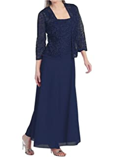 Womens Long Mother The Bride Evening Formal Lace Dress Jacket
