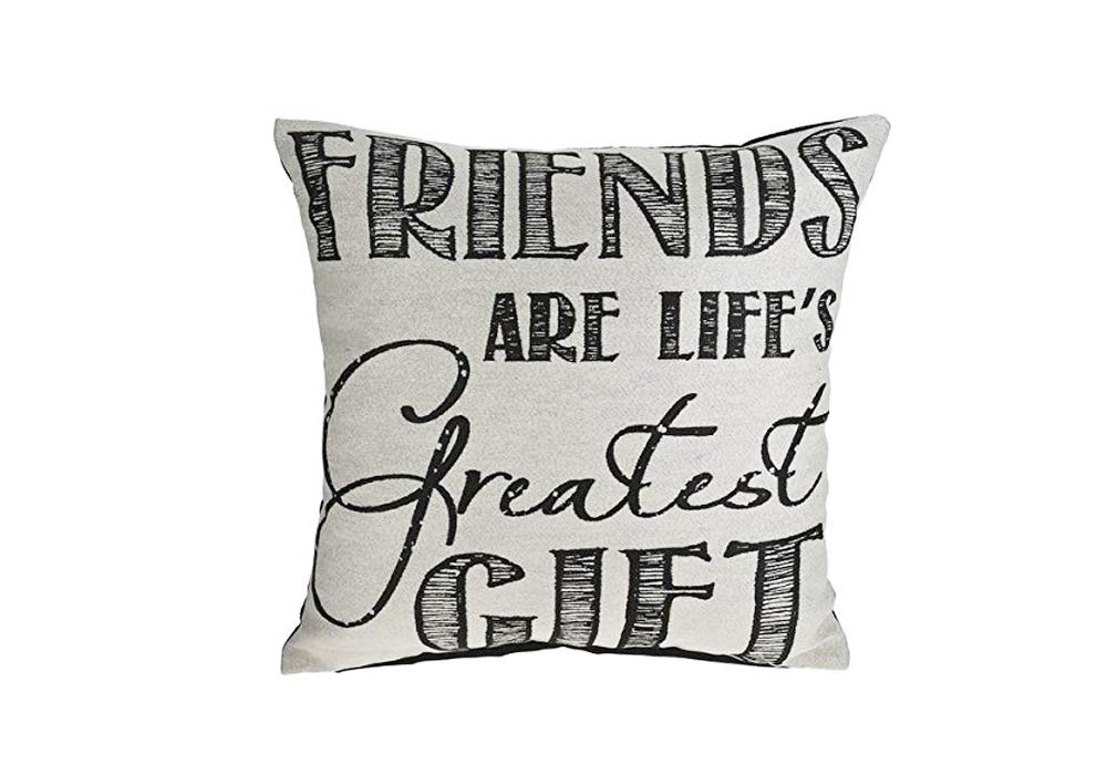 MIDWEST-CBK Friends are Life's B07PKWWQWW 年間定番 感傷的アクセント枕 定番スタイル Greatest Gifts