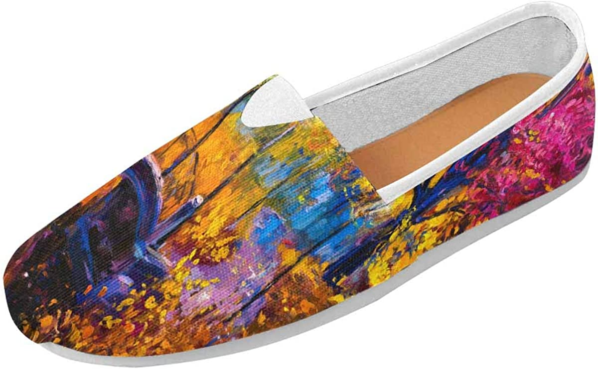 INTERESTPRINT Womens Go Walk Slip-On Loafers Casual Shoes US4.5~US14