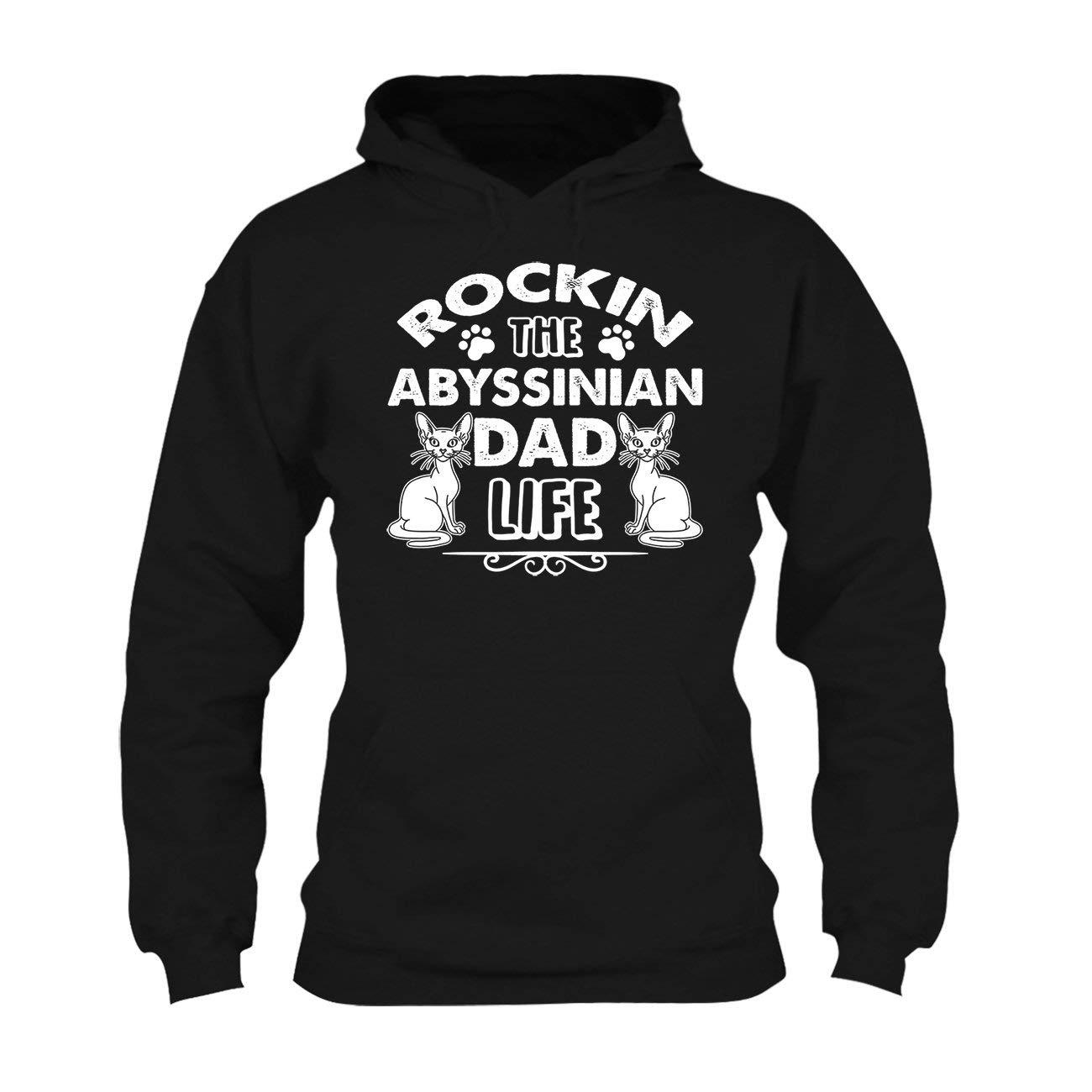 Rockin Abyssinian Dad Life Tee Shirt Design Long Sleeve Shirt