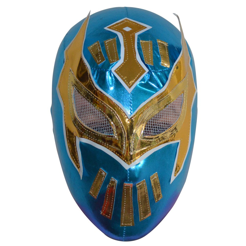 Deportes Martinez Children Sin Cara Lycra Lucha Libre Wrestling Mexican Mask Teenager, Kid Child Luchador Mask (Blue)