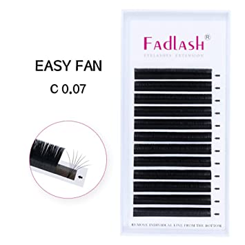 d535d533217 Easy Fan Volume Lashes Extensions 8~20mm Rapid Blooming Lashes C Curl  0.07mm 2D
