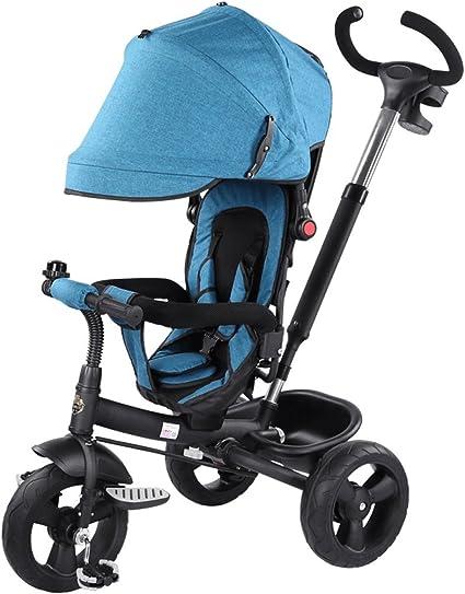 C-K-P Cochecito de bebé, plegables niños triciclo pedal bicicleta ...