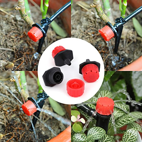 """Youngneer Automatic Drip Irrigation Kits Plant Watering System with 82FT 1/4"""" Tubing Hose 30 PCS Emitters Greenhouse Patio Garden Flower Bed DIY Self Irrigation System by Youngneer (Image #4)"""