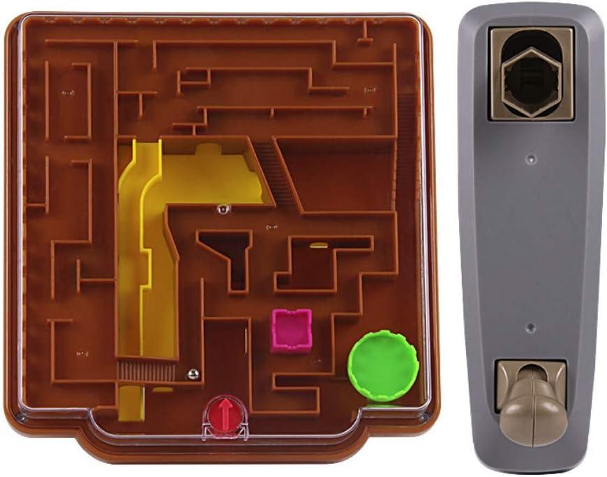1pcs niños Juego del laberinto creativo 3d juego interactivo del Laberinto del Castillo temático Barreras desafiantes rompecabezas para niños juguetes bola enigmas Puzzle Juguetes: Amazon.es: Juguetes y juegos