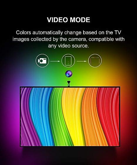 Govee - Kit de retroiluminación LED para TV con cámara y Wi-Fi ...