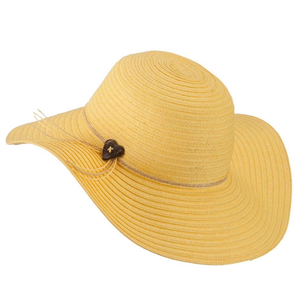 1d010d745 Coconut Band Floppy Hat - Yellow OSFM at Amazon Women's Clothing ...