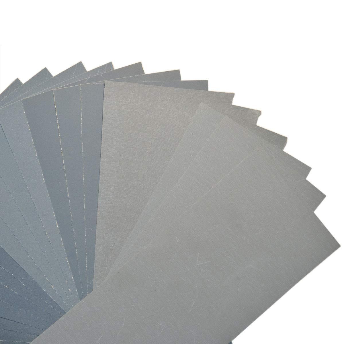 Amazon.com: 48 unidades de papel de lija de doble uso en ...