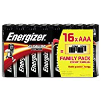 Energizer AAA Batteries, Alkaline Power Triple A Batteries, 16 Pack