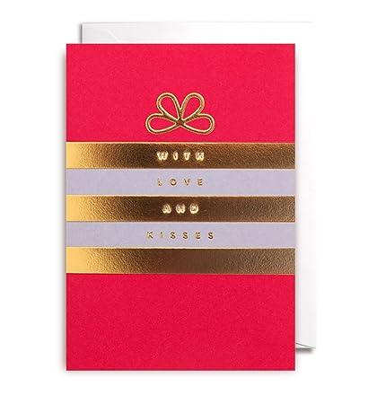 Postco diseño tarjeta: Amor y besos tarjeta de felicitación ...