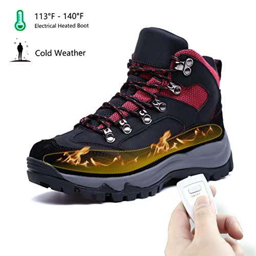 ad8b89c0f6e HMSPACES Women's Heating Hiking Shoes with Fur Inside/Self-Drying ...