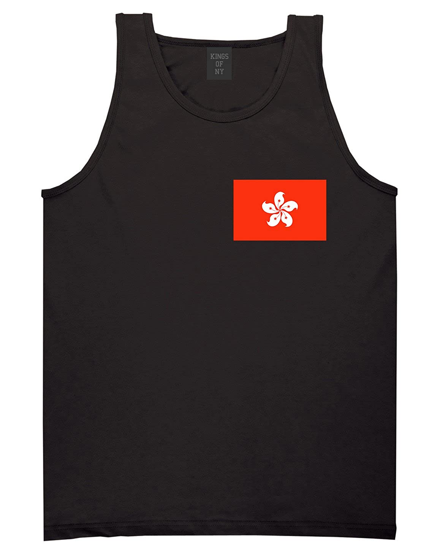 Hong Kong Flag Country Chest Tank Top Shirt