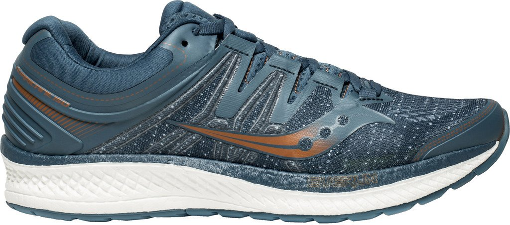 bleu denim copper 8 EU Saucony Hommes Hurricane Iso 4 Stability FonctionneHommest chaussures FonctionneHommest chaussures bleu - Orange