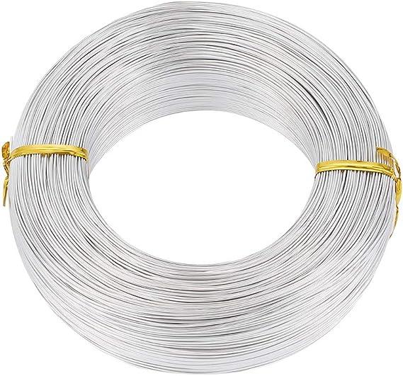 creazione di gioielli manuali argento Filo in alluminio argentato da 3,5 mm per lavori fai da te PandaHall