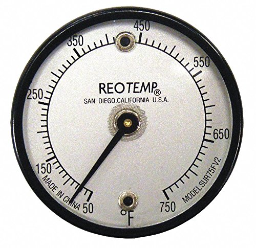 Bimetal Thermom, 2 In Dial, 50 to 750F by REOTEMP