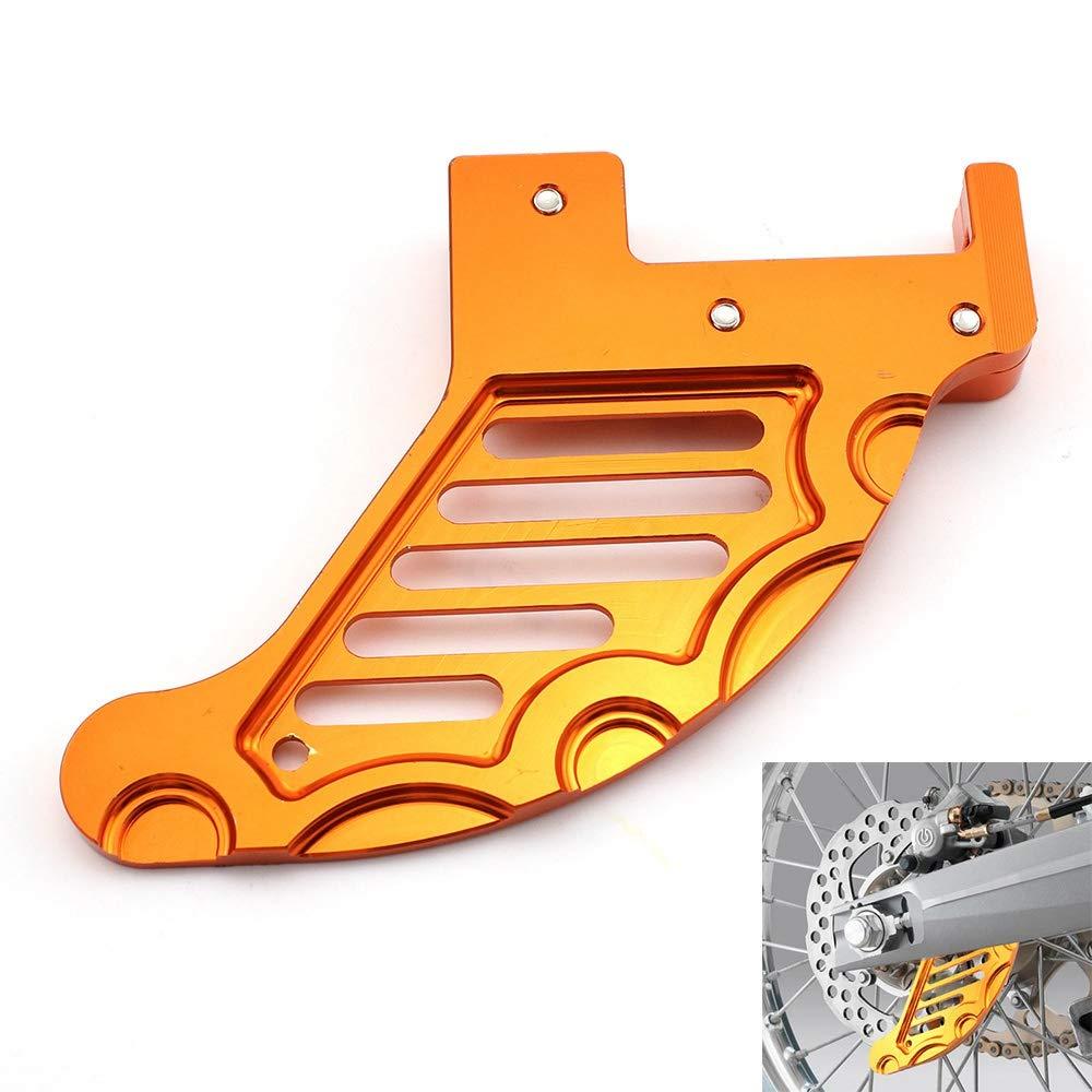 OUYAWEI Protezione Disco Freno Posteriore per KTM 125 250 350 450 525 530 SX SX-F EXC MXC XCW Arancia