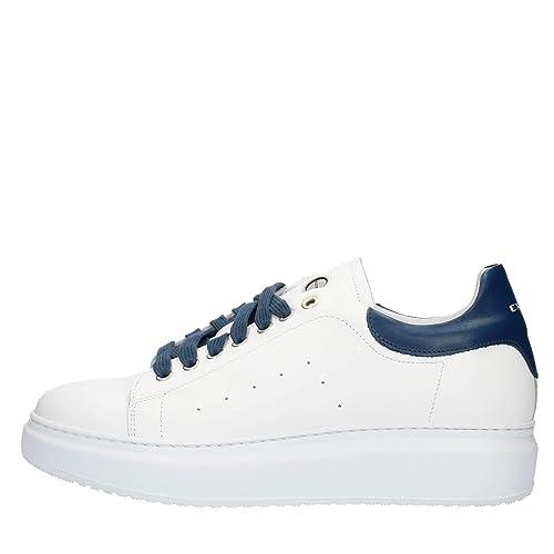 info for 2776d e7d53 Exton 955 Sneakers Uomo Bianco e Blu 44: Amazon.it: Scarpe e ...