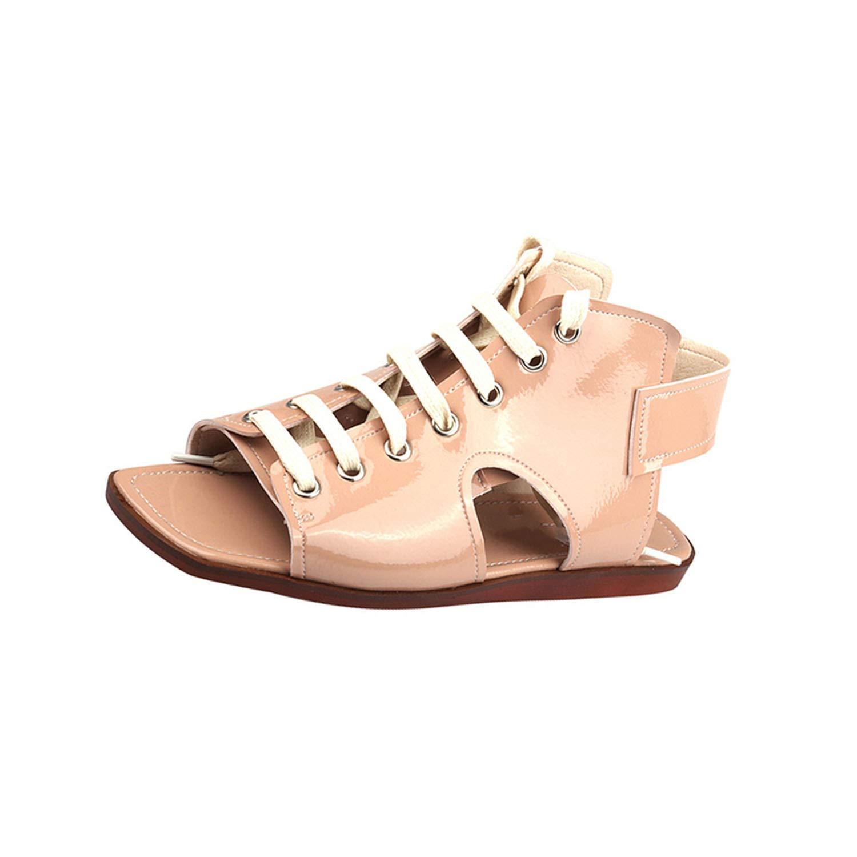 homme / femme gladiateur chaussures l'aise sandale à l'aise chaussures femmes occasionnel dentelle rose beige cuir délicat ar9323 bout ouvert magasin phare 9f9c82