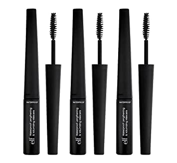 e.l.f. Waterproof Lengthening and Volumizing Mascara, Black, 0.3 fl.oz, 3 Pack