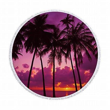 1c5e43577b15 Klerokoh Toallas de Playa Redondas con Mantel o Mantel de círculo ...