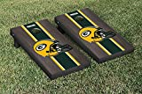 NFL Green Bay Packers Onyx Stained Stripe Version Football Cornhole Game Set, 24'' x 48'', Multicolor
