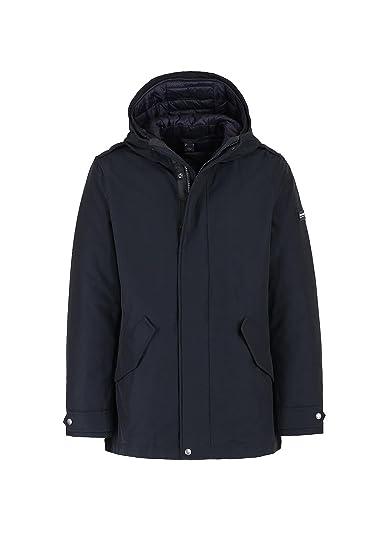 e402670a6b60e Woolrich Giubbotto LONG MILITARY ESKIM Uomo Blu WOCPS2587-DKN   Amazon.co.uk  Clothing