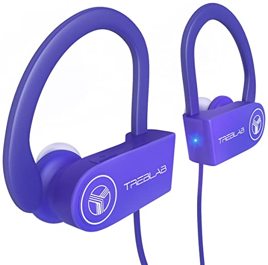 TREBLAB XR100 Bluetooth Sport Headphones, Best Wireless Earbuds for Running Workout