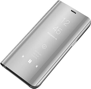 Coque iPhone 11 Etui à Rabat Miroir Smart Folio avec Fonction Stand Antichoc Housse Pour iPhone 11 (6.1
