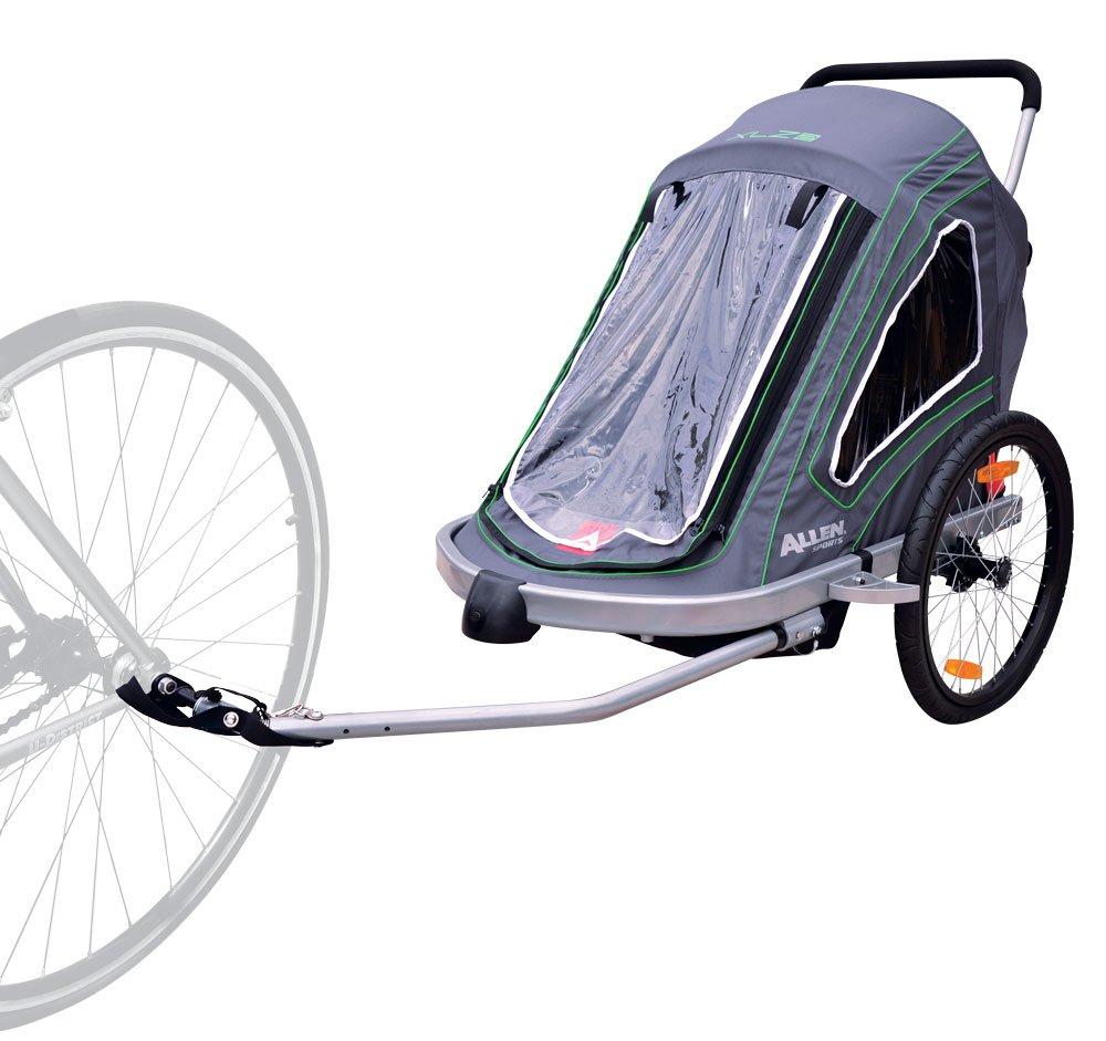 Allen Sports Aluminum 2 Child Trailer Single Double Moreover Car Hauler Plans Utility Wiring Swivel Wheel Stroller Outdoors