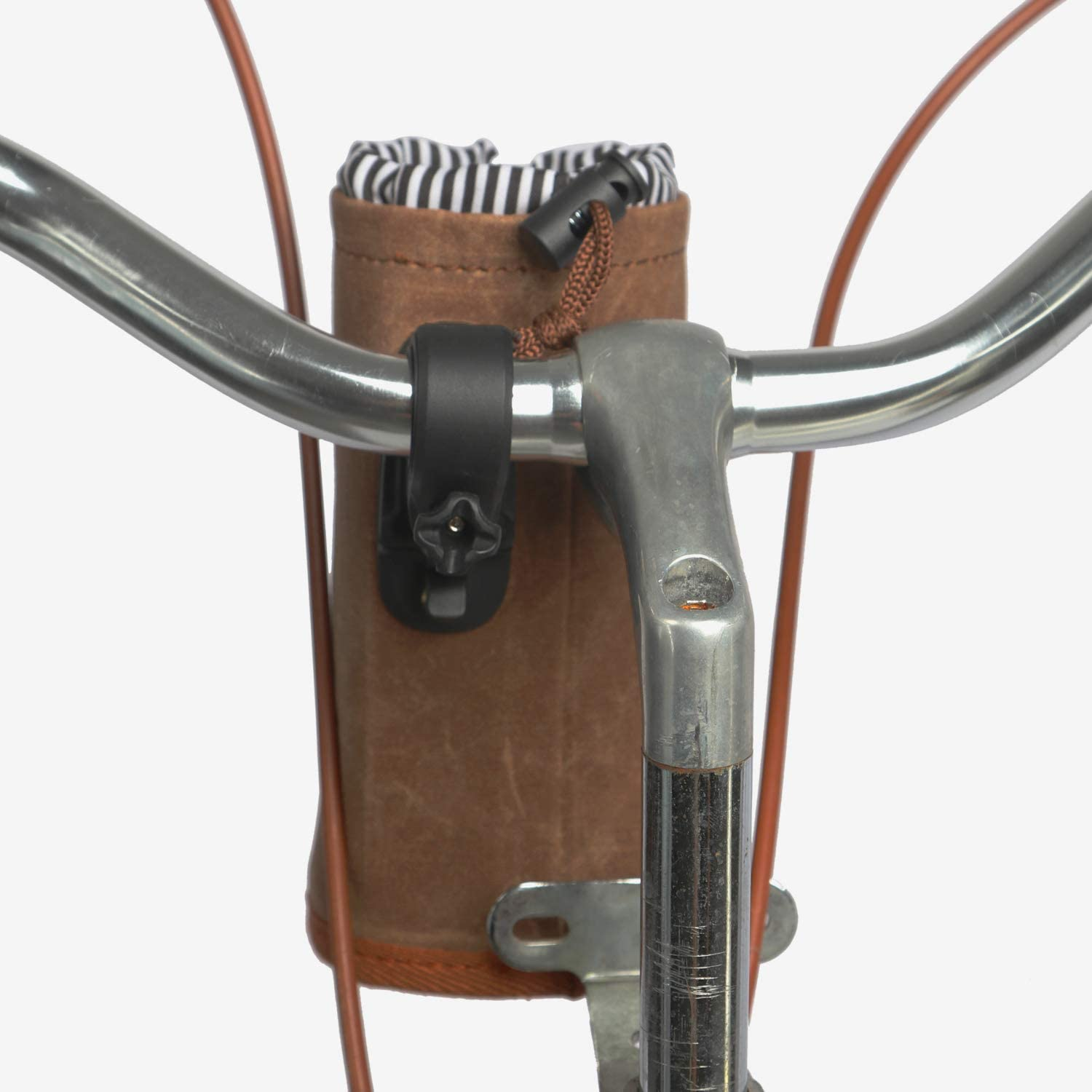Canvas and Leather TOURBON Bike Handlebar Pouch Bicycle Water Bottle Drink Cup Holder