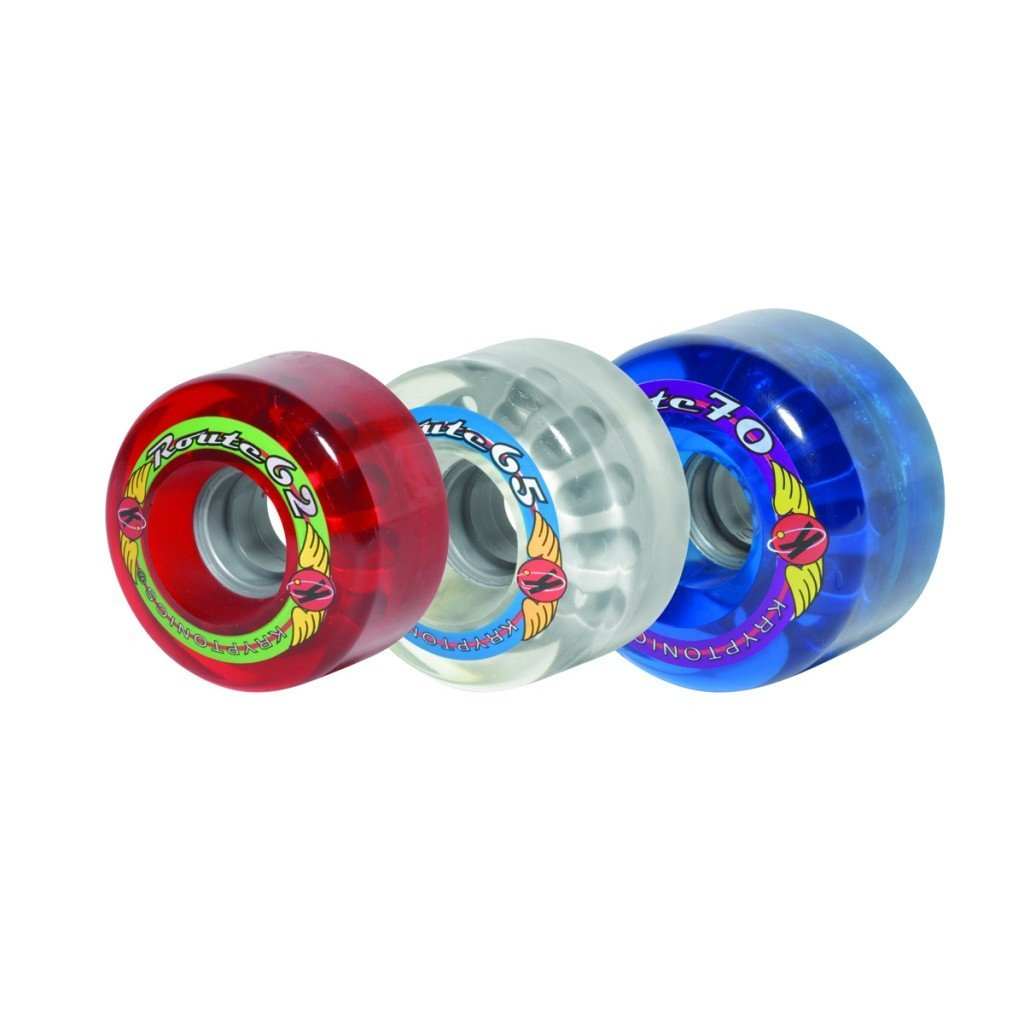 Sure-Grip Outdoor Kryptonics Route Wheels 70mm - clear by Sure-Grip
