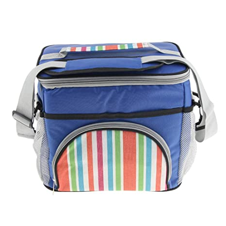 Insulated Outdoor Party Picnic Cool Box Lunch Bag Cooler with Shoulder Strap