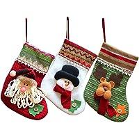 MMTX Juego de 3 Calcetines de Navidad Regalode