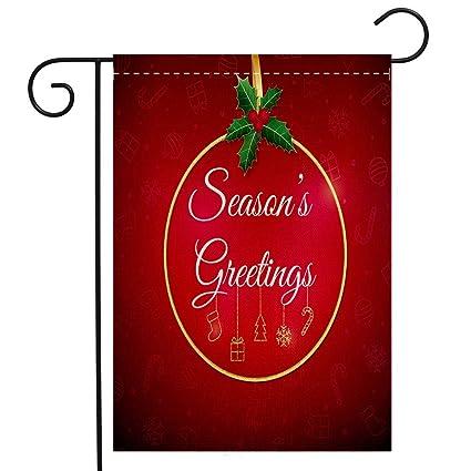 Christmas Greetings Background.Amazon Com Beivivi Creative Home Garden Flag Seasons
