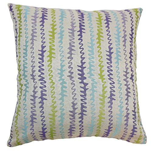 The Pillow Collection Malu Zigzag Down and Feather Filled Th