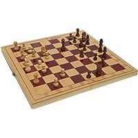 Samaira Sunshine 12-inch Handmade Classic Wooden Folding Chess Board