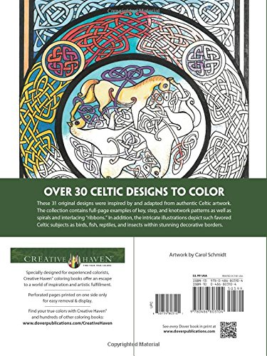 Amazon Creative Haven Celtic Designs Coloring Book Adult 9780486803104 Carol Schmidt Books