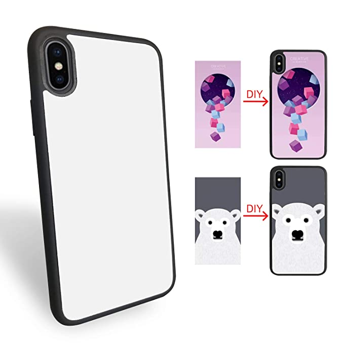 graphic regarding Printable Phone Case named 10Computers Sublimation Blanks Mobile phone Scenario Addresses for apple iphone X, TPU+Laptop Content, 5.8 Inch. Sublimation Blanks Printable Cell phone Circumstance Do it yourself