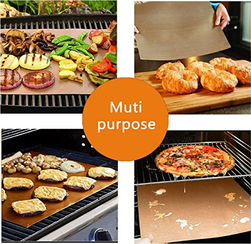 SMAID Copper Grill Mat Set of 4 - Non-Stick BBQ Grill Mats - FDA-Approved, Reusable and Easy To Clean - Works on Gas, Charcoal, Electric Grill and More - 15.75 x 13 Inch by SMAID (Image #6)