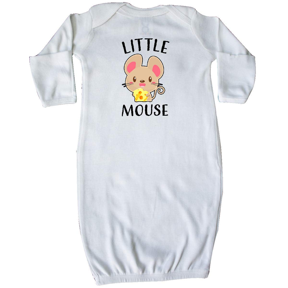 inktastic Little Mouse with Cute Mouse Holding Cheese Baby T-Shirt