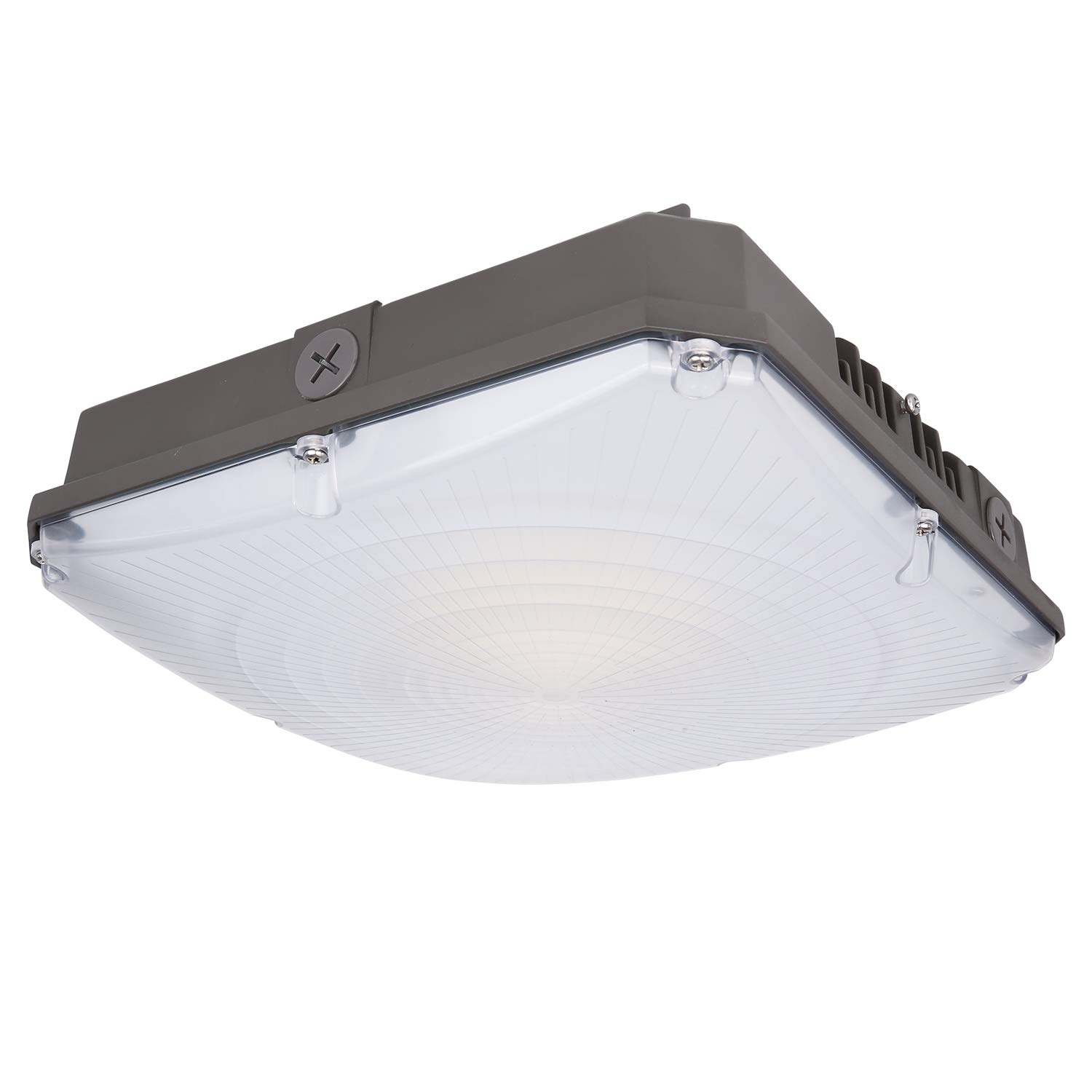 Hykolity 70W LED Canopy Light, 8400lm Outdoor LED Parking Garage Lights, Wet Rated Low Bay Soffit Lighting Fixture for Apartment Carport, 5000K, 1-10V Dimmable [400W MH Equivalent]