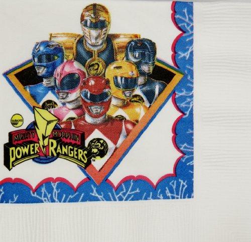 Classic Power Ranger Beverage Napkins 16 (Power Ranger Party City)