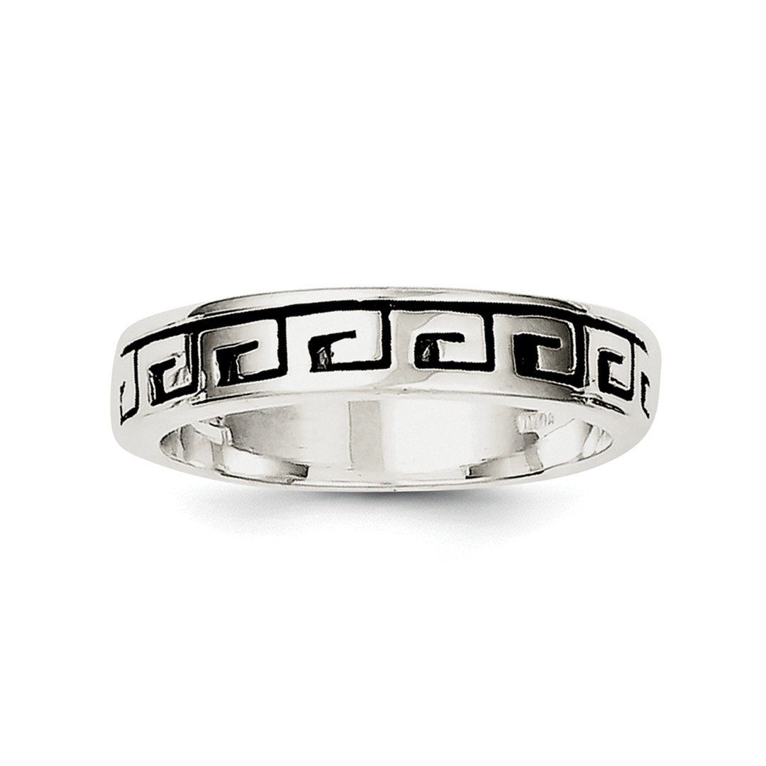 ICE CARATS 925 Sterling Silver Greek Key Wedding Ring Band Size 7.00 Fine Jewelry Ideal Gifts For Women Gift Set From Heart